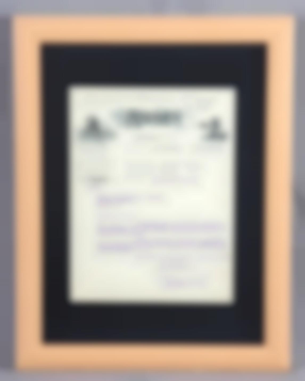 Organizacion Moderna De Oficinas Roneo Iberica Framed Official Letter-