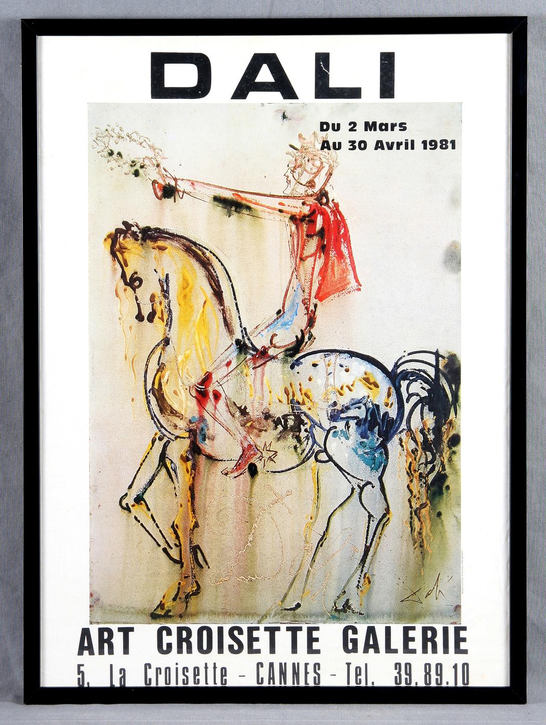 Salvador Dali-Dali Exhibition 1981 Cannes France-