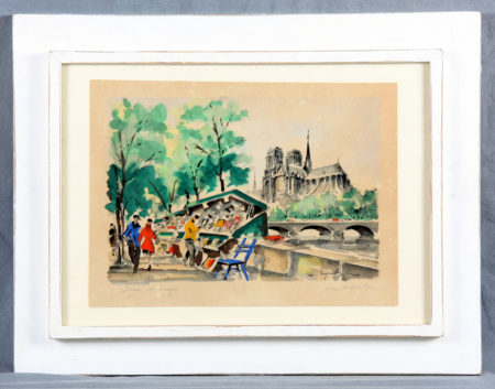 Legendre, Mauricio - Shacks of artists with Notre Dame-