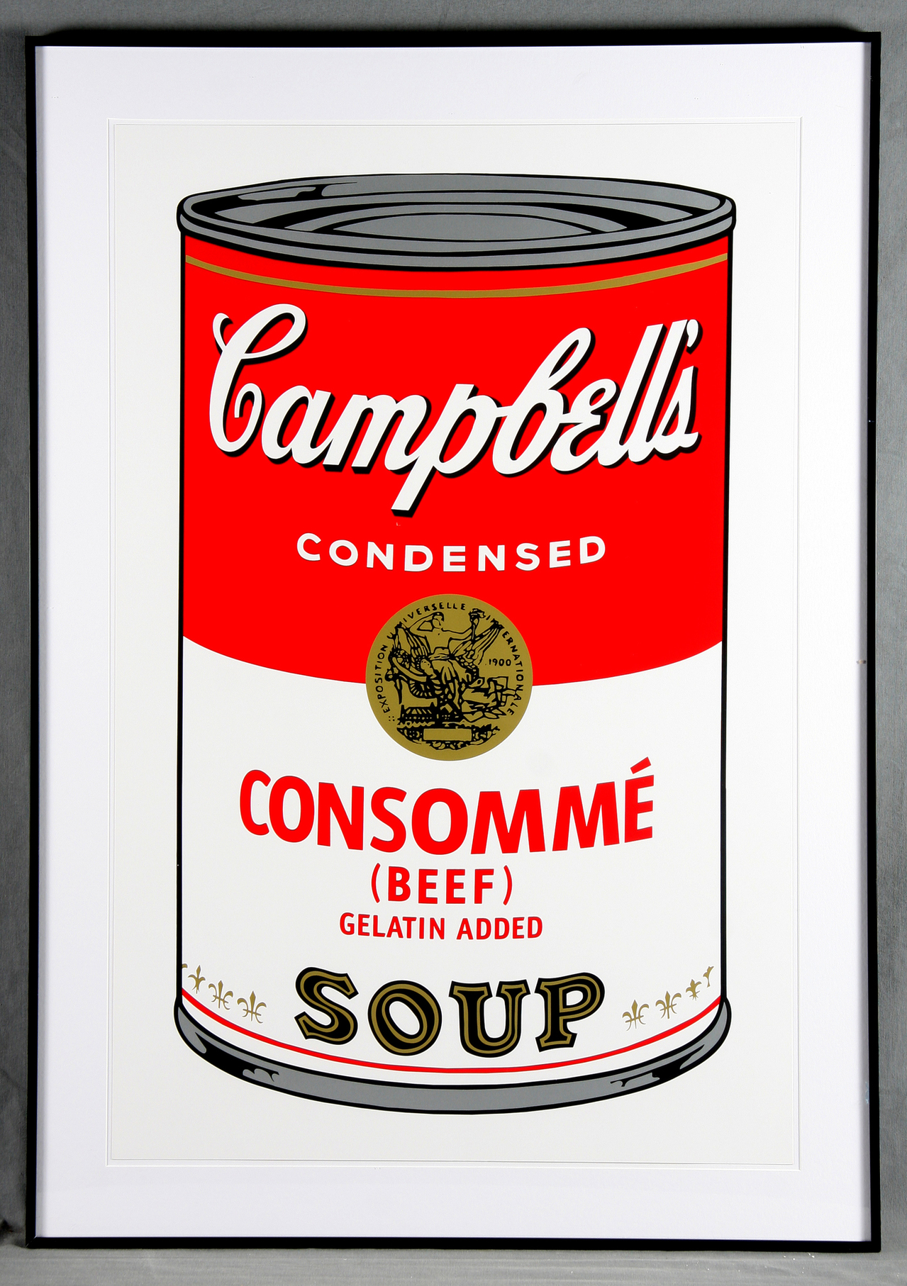 Andy Warhol-Campbell's Soup Can 11.52. Consomme Beef-1988