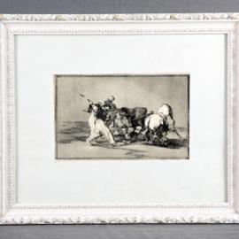 Francisco de Goya-Bullfighting