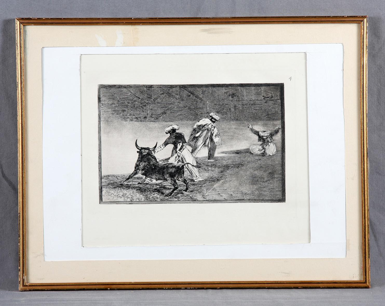 Francisco de Goya-Bullfighting-