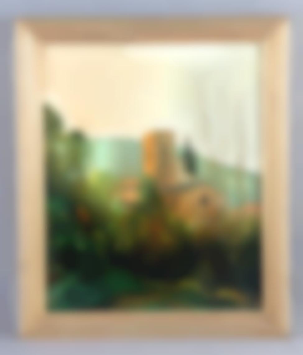 Serra Buixo, Mateo - Landscape with tower-