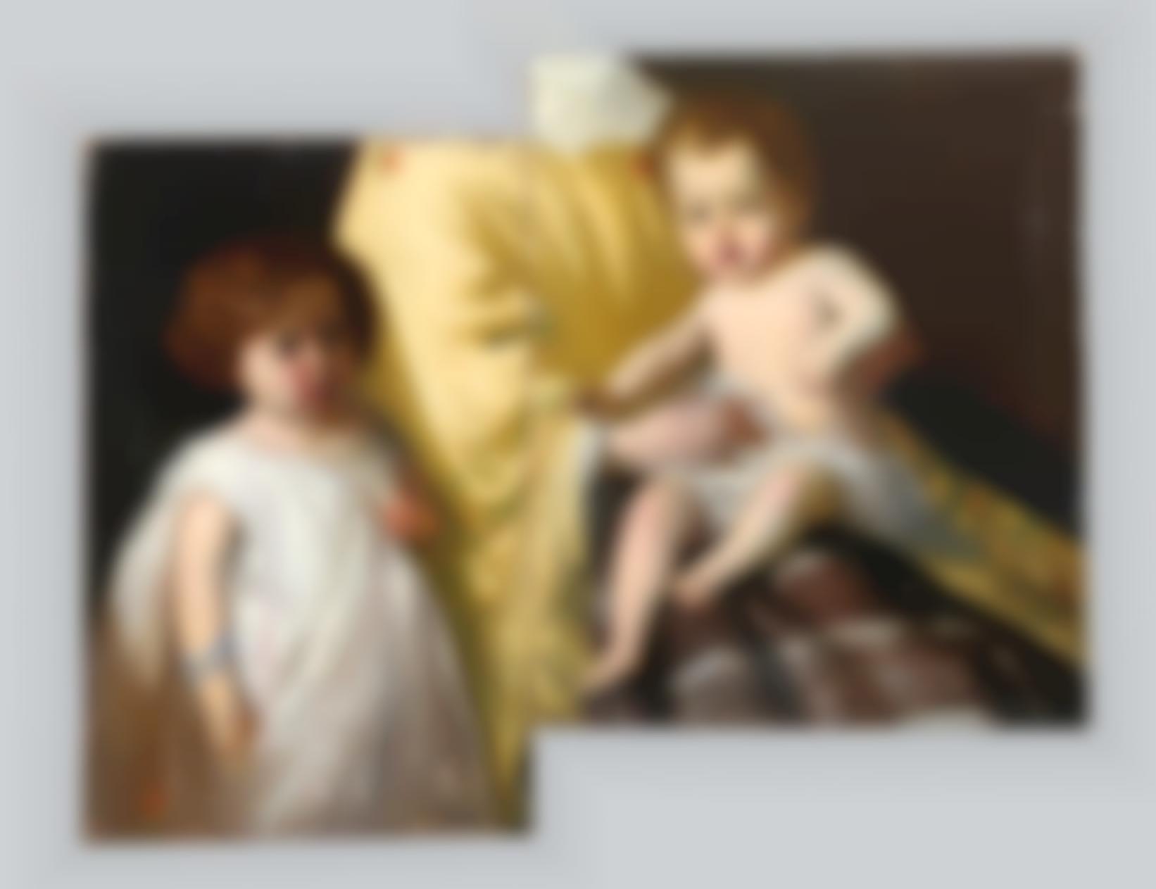 Esquivel Y Suarez De Urbina, Antonio Maria - Couple of children's portraits-1841