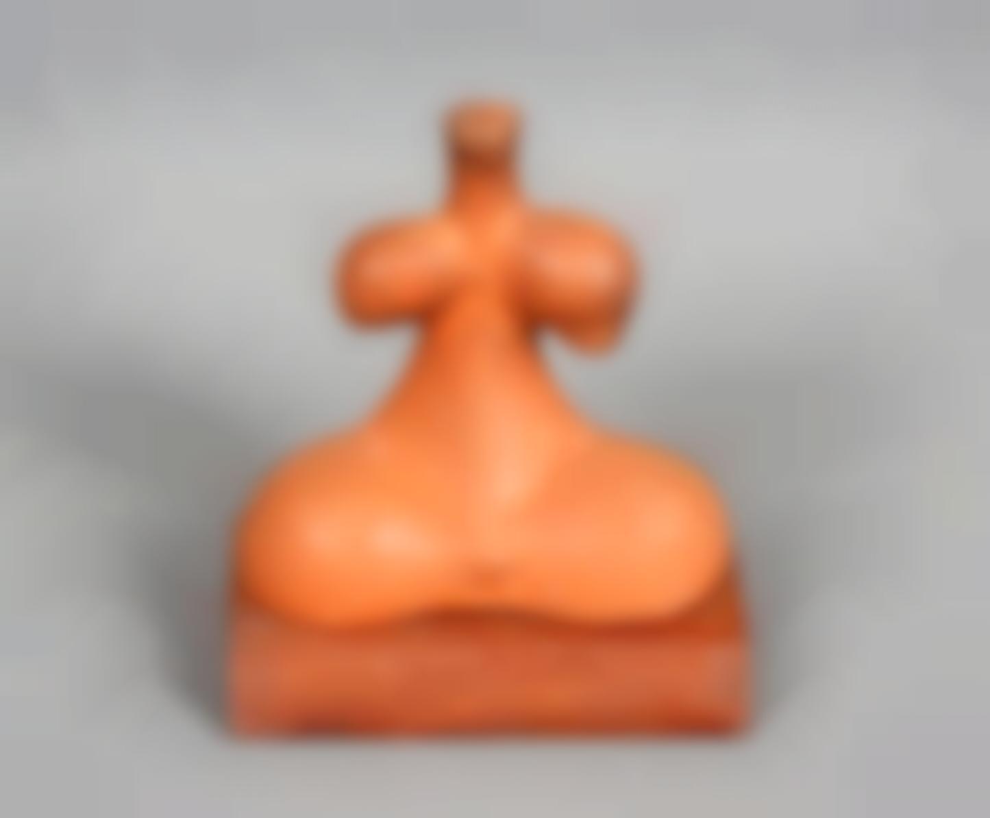 The Idol Of Tara. A Fired Clay Figure-