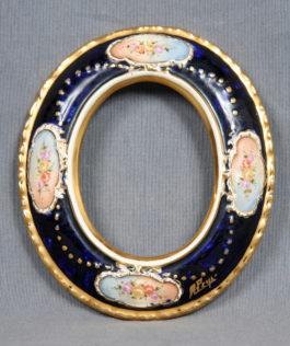 Peyro Spanish Polychrome Porcelain Frame-1940