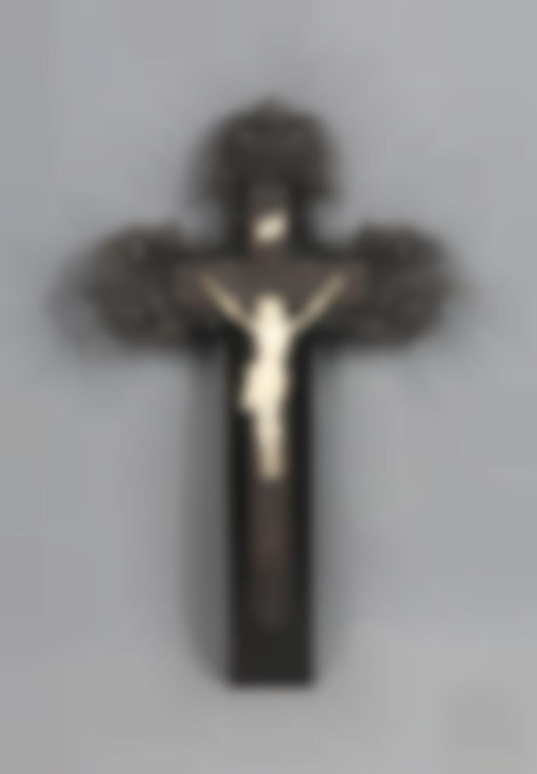 A Carved Ivory Crucifix-