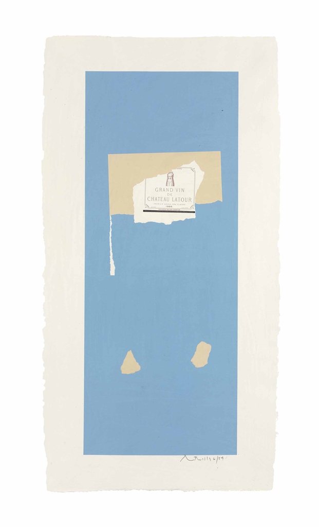 Robert Motherwell-Pauillac, #4, from Summer Lights Series-1973