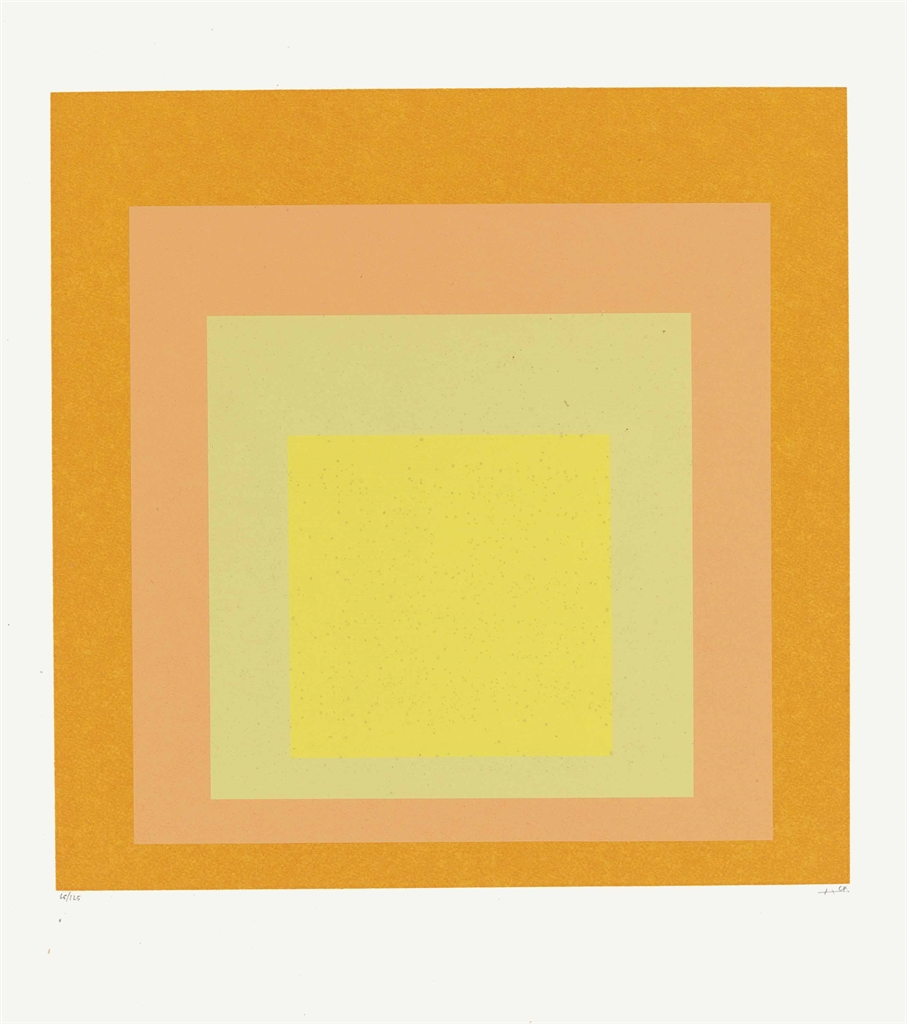 Josef Albers-Homage au Carre: One Plate-1973