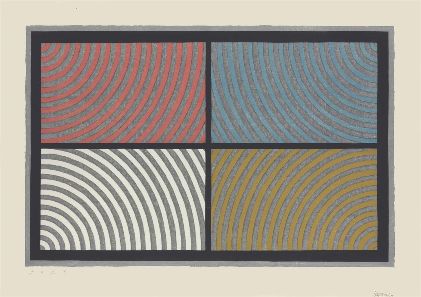Sol LeWitt-Arcs From Four Corners-1986