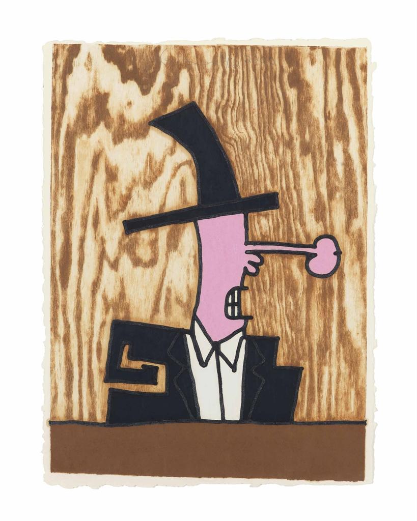 Carroll Dunham-Stove Pipe Hat-2000