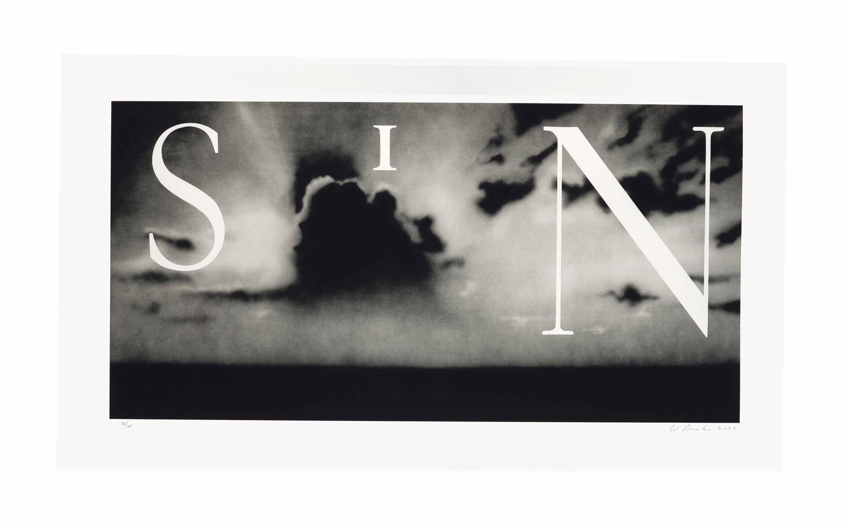 Ed Ruscha-Sin - Without-2002