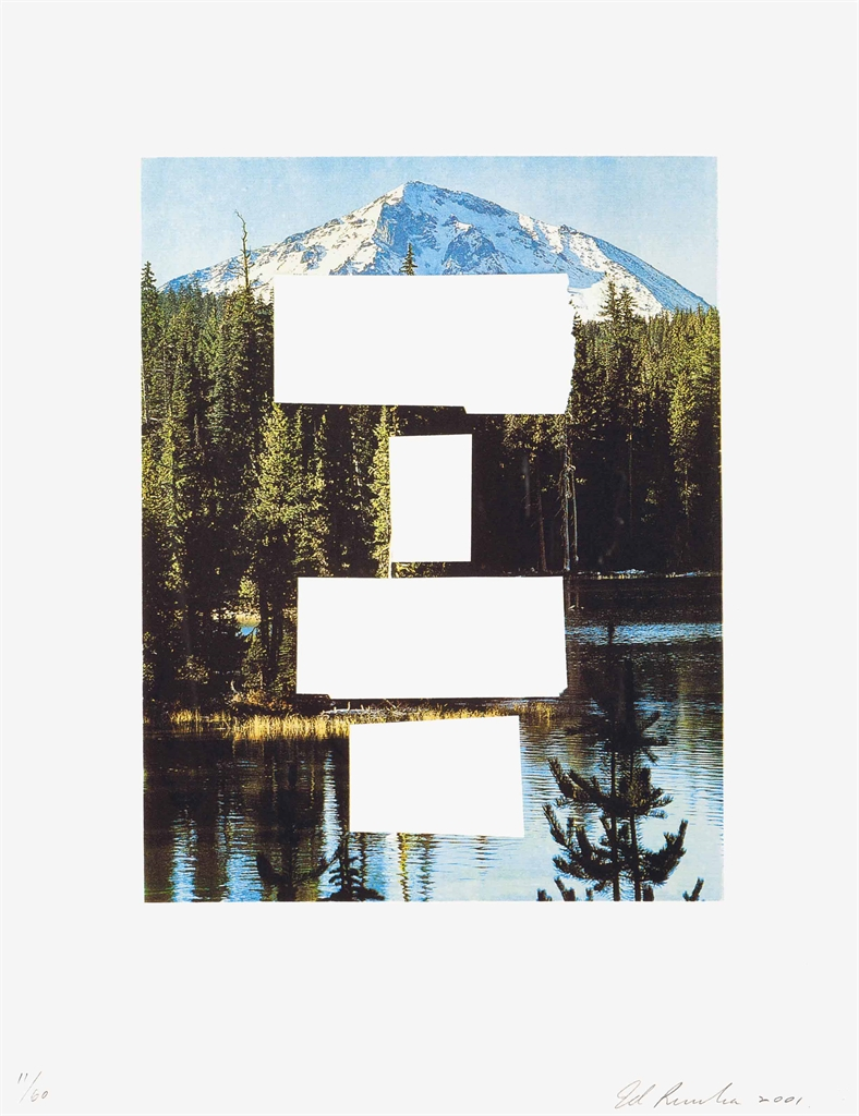 Ed Ruscha-Your a Dead Man, from Country Cityscapes-2001