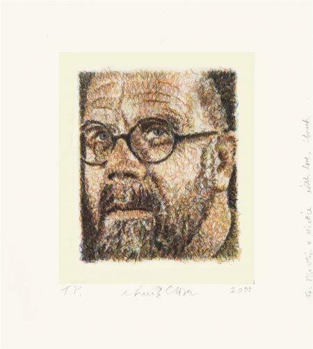 Chuck Close-Self Portrait/Scribble/Etching-2000