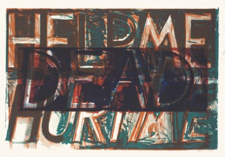 Bruce Nauman-Help Me Hurt Me, from Sundry Obras Nuevas-1975