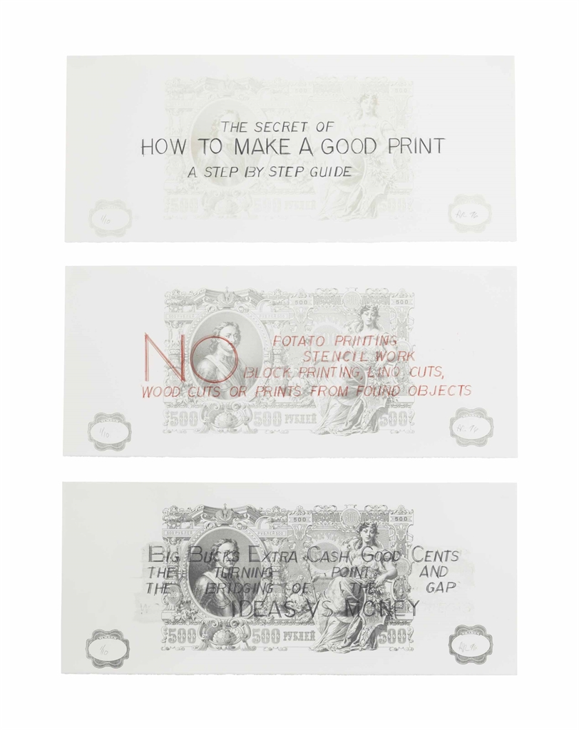 Allen Ruppersberg-How to Make a Good Print (State I)-1996