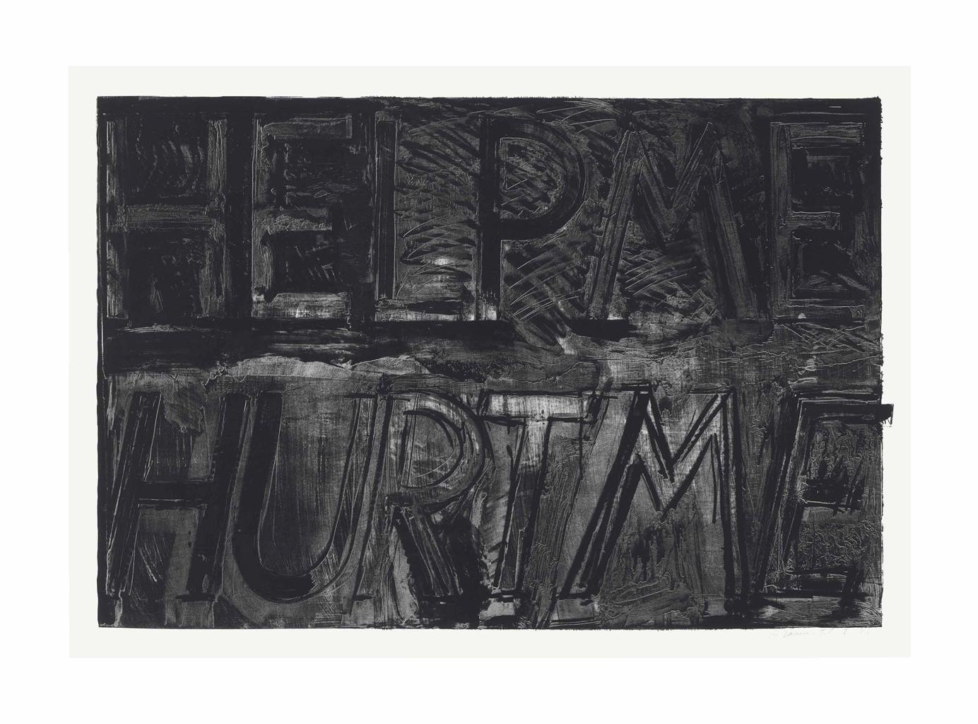 Bruce Nauman-Help Me Hurt Me from Sundry Obras Nuevas-1975