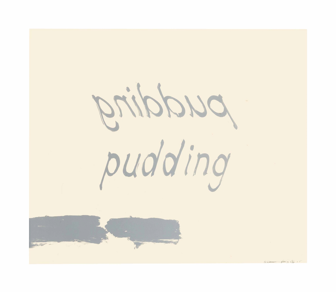 Bruce Nauman-Proof of Pudding-1975