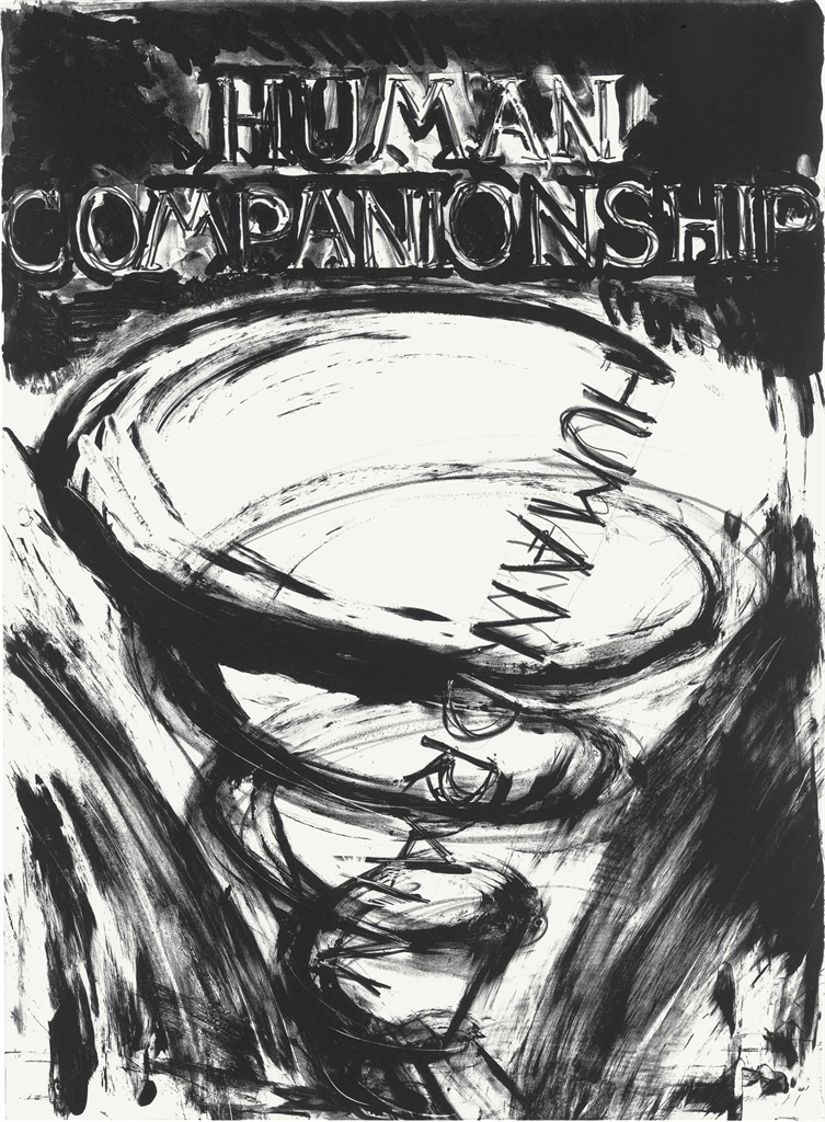Bruce Nauman-Human Companionship, Human Drain, from Eight Lithographs to Benefit the Foundation for Contemporary Performing Arts, Inc.-1981