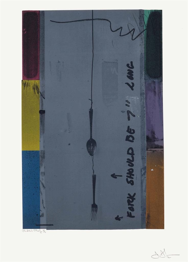 Jasper Johns-Screen Piece-1972
