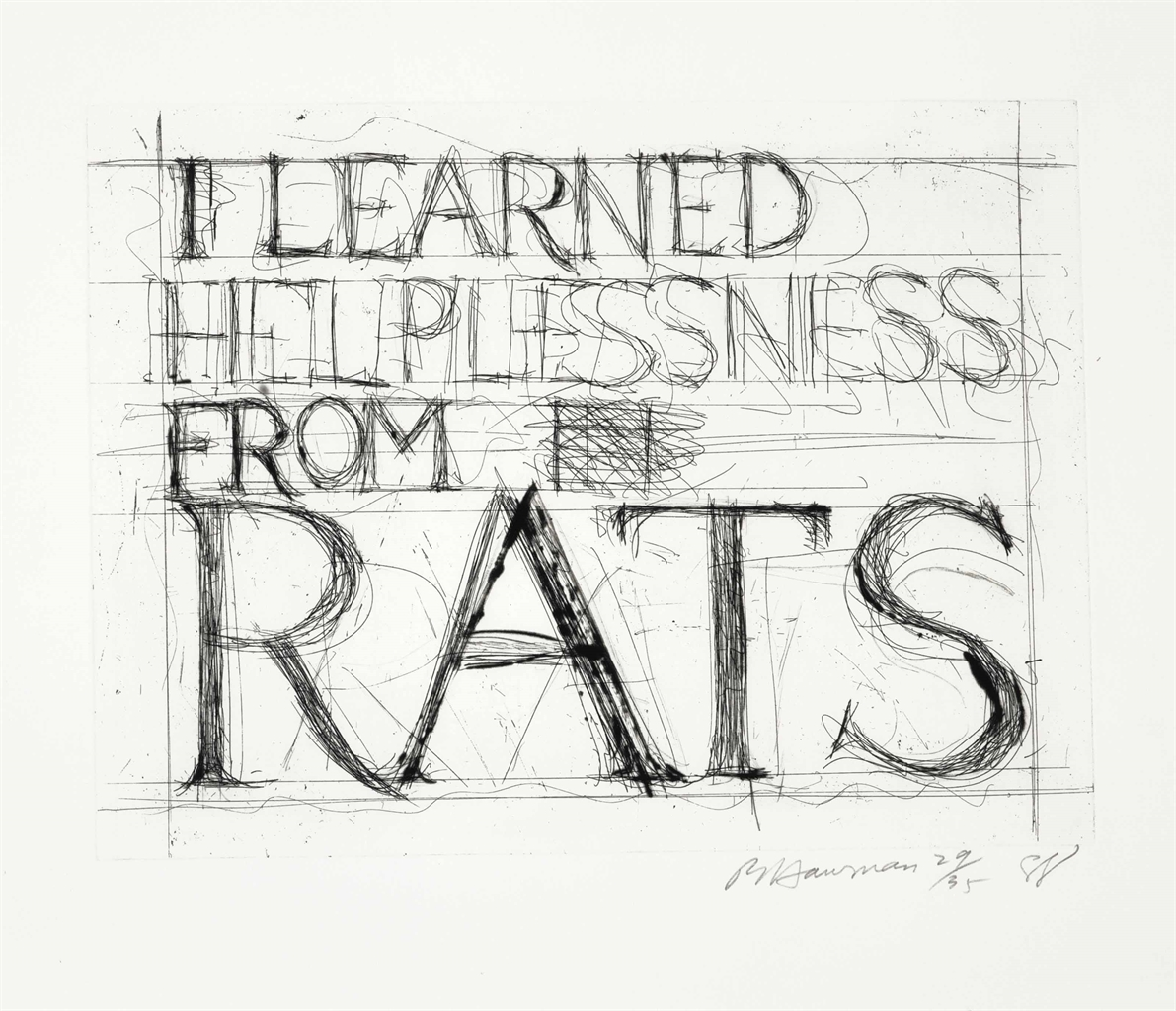 Bruce Nauman-I Learned Helplessness from Rats-1988