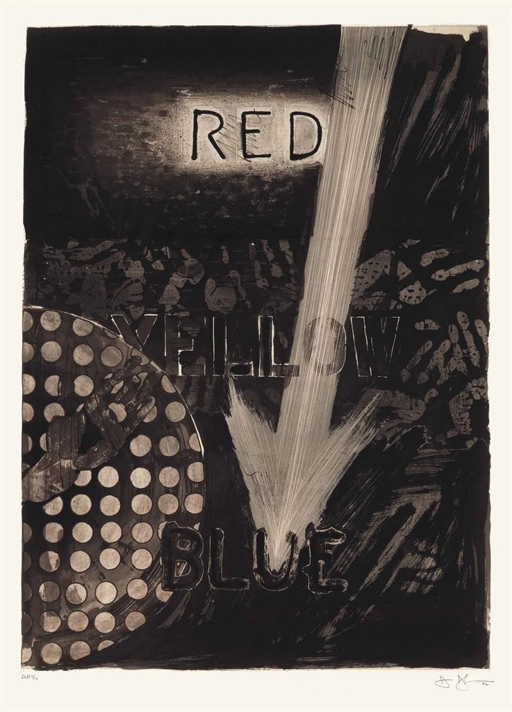 Jasper Johns-Untitled (Red)-1982