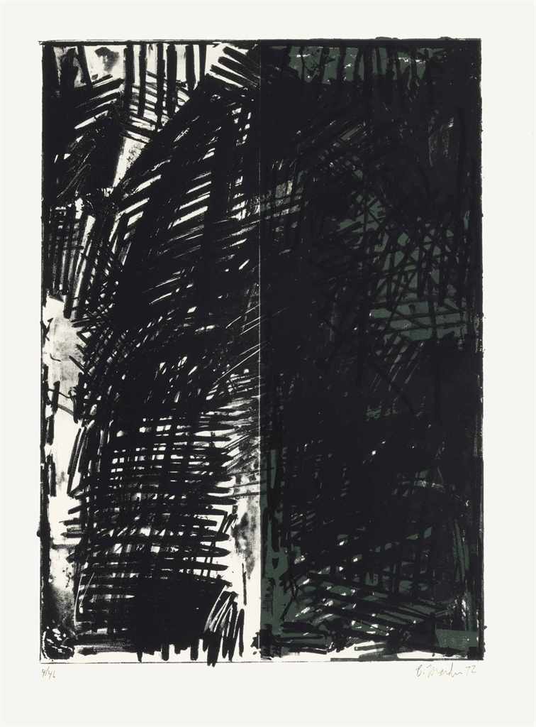Brice Marden-#4, from Untitled Press Series-1972