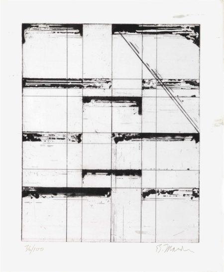 Brice Marden-Etching for Parkett-1985