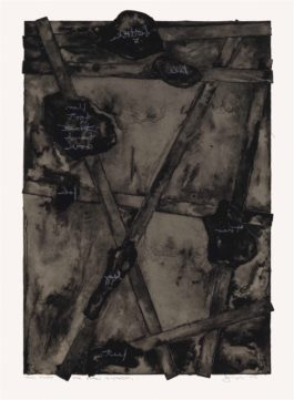 Jasper Johns-Sketch, from Untitled II-1974