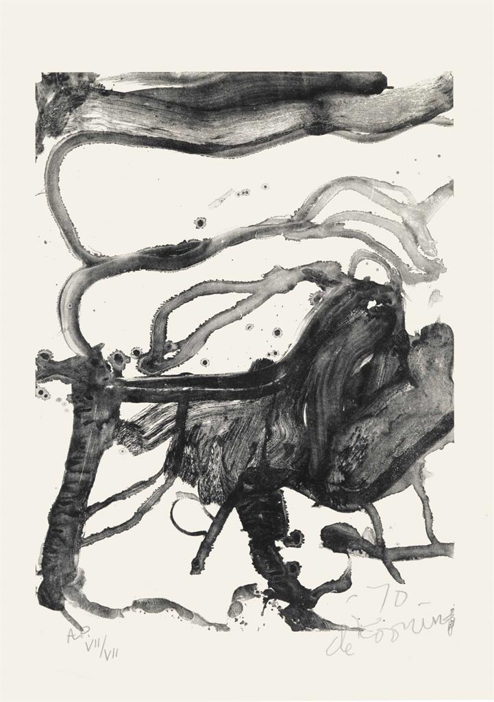 Willem de Kooning-High School Desk-1971