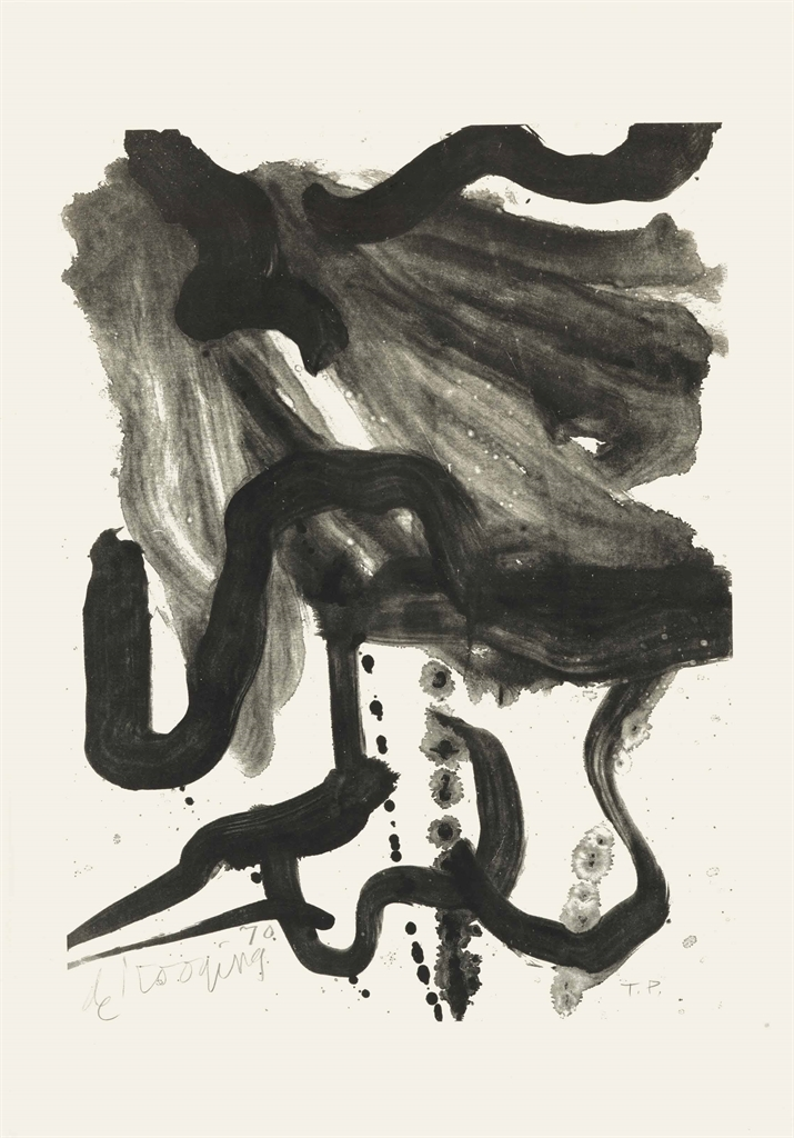 Willem de Kooning-Woman with Corset and Long Hair-1971