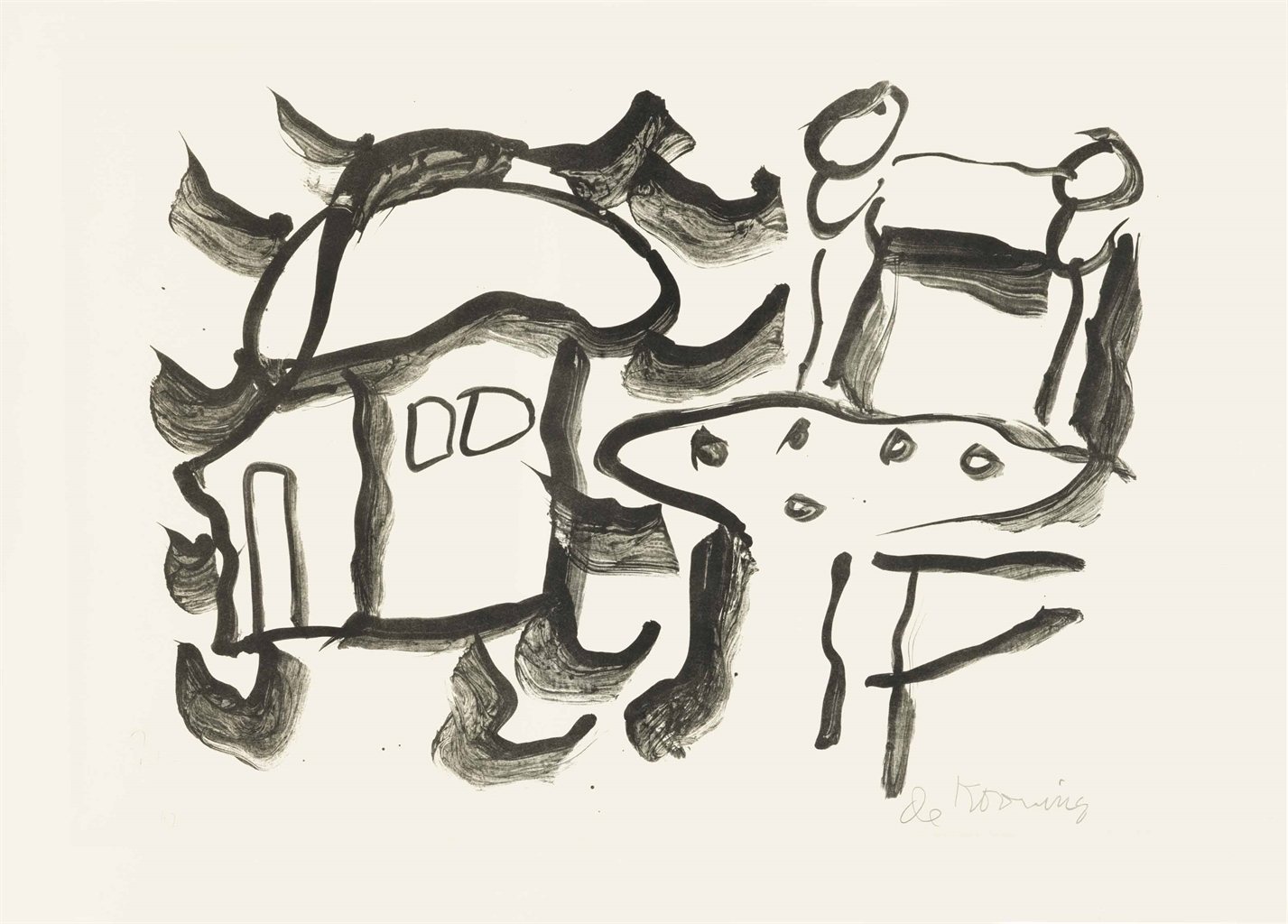 Willem de Kooning-Table and Chair-1971