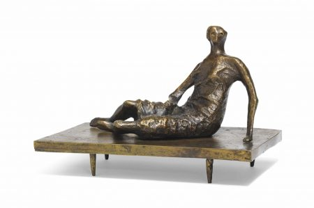 Henry Moore-Maquette for a Draped Reclining Woman-1959