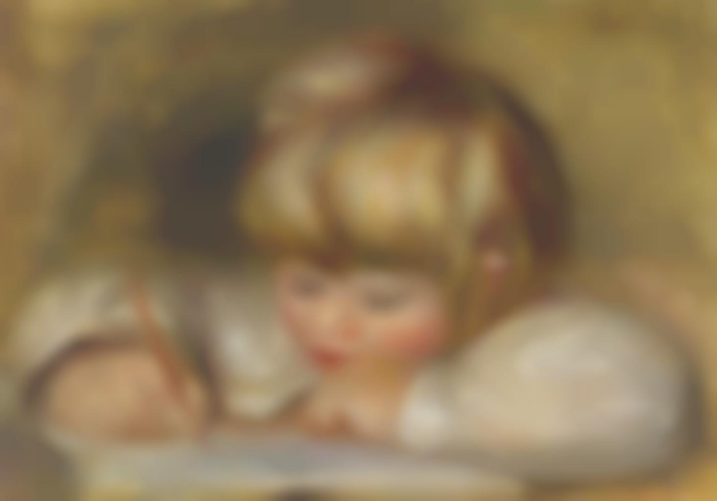 Pierre-Auguste Renoir-Coco ecrivant-1907