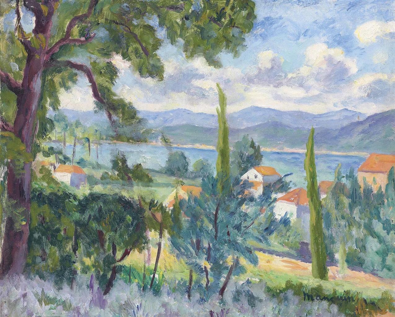 Henri Charles Manguin-Saint-Tropez, vue sur le fond du golfe-1939