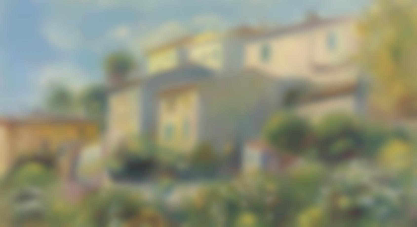 Pierre-Auguste Renoir-Vue de la Poste a Cagnes-1907