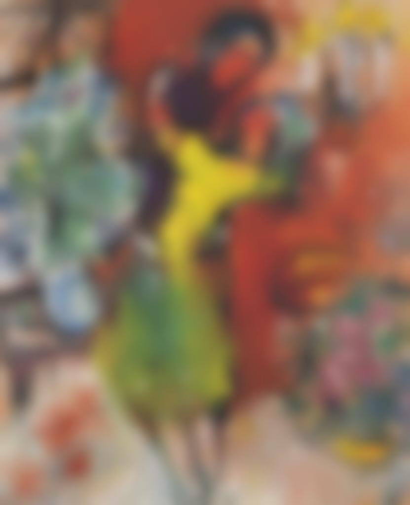 Marc Chagall-Couple au chandelier-1954