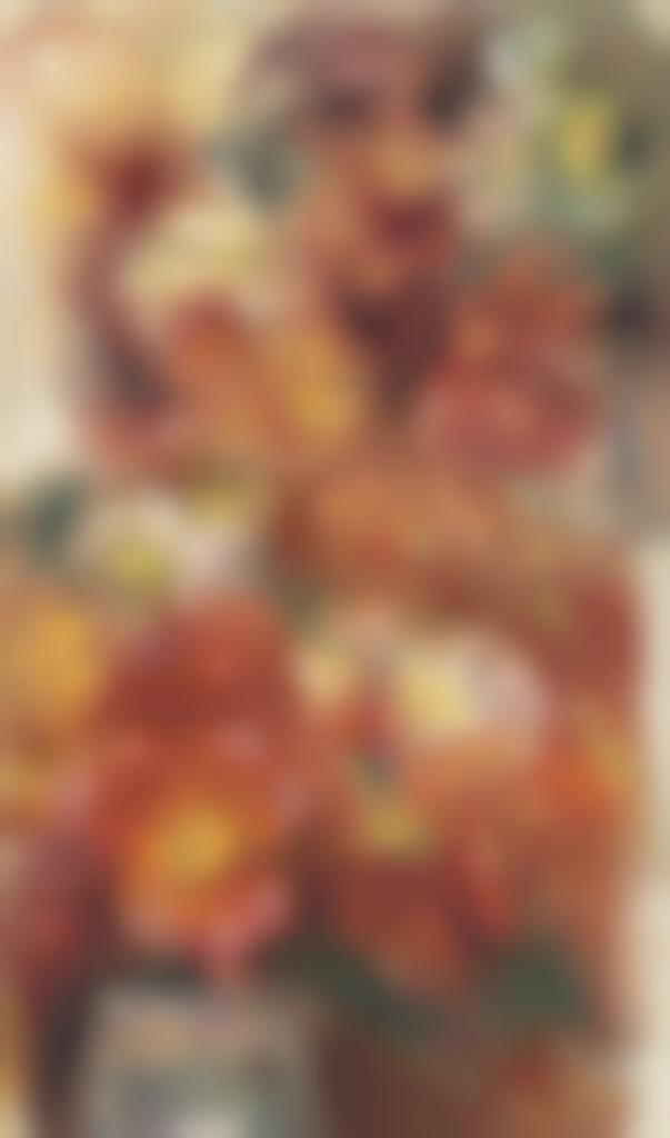 Pierre-Auguste Renoir-Deux etudes de fleurs dans des vases-