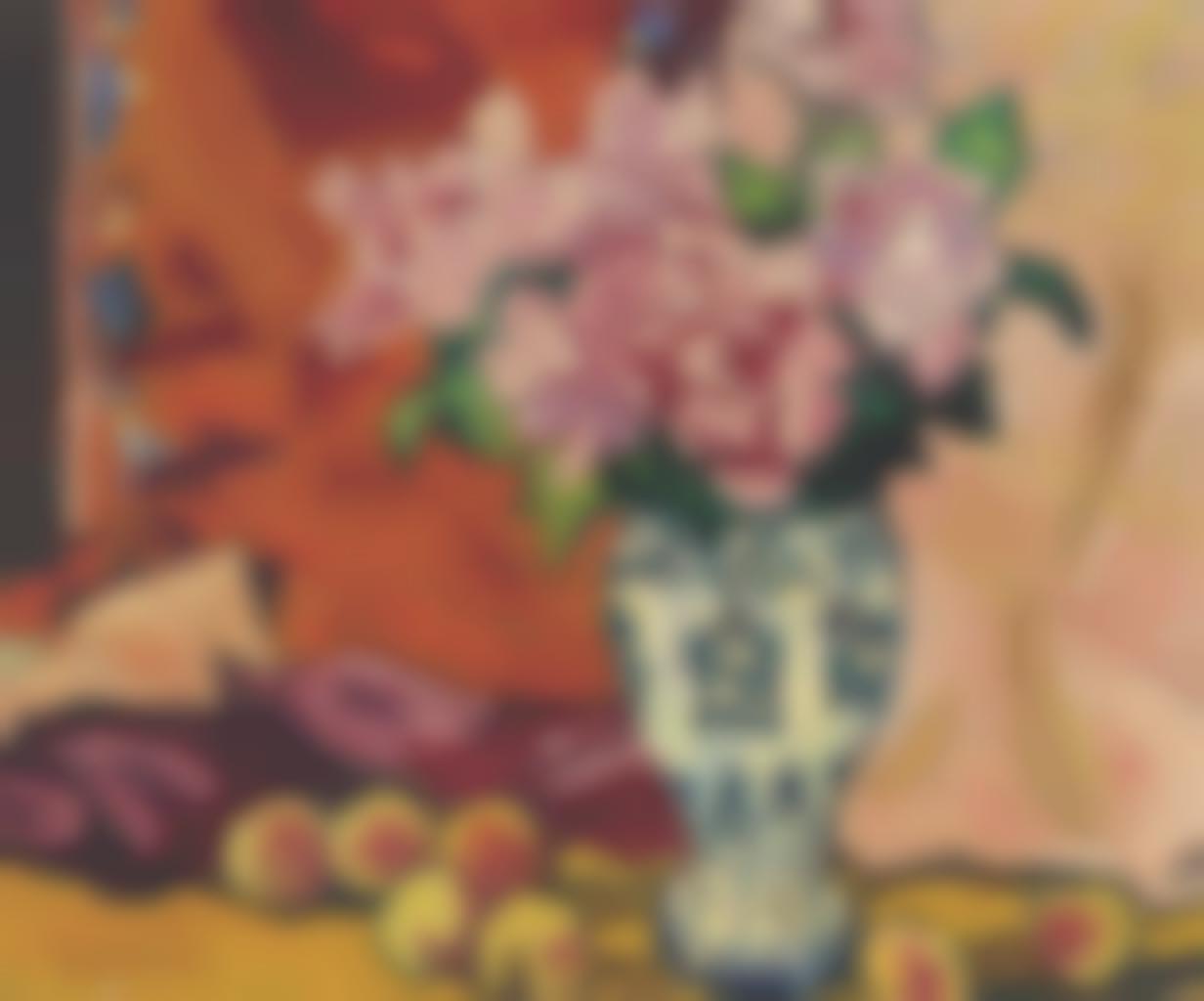 Louis Valtat-Bouquet de roses aux peches-1935