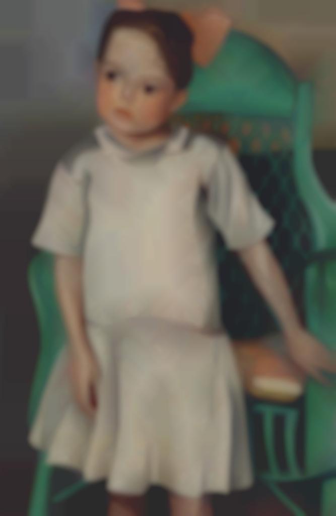 Auguste Herbin-Petite fille au fauteuil-1923