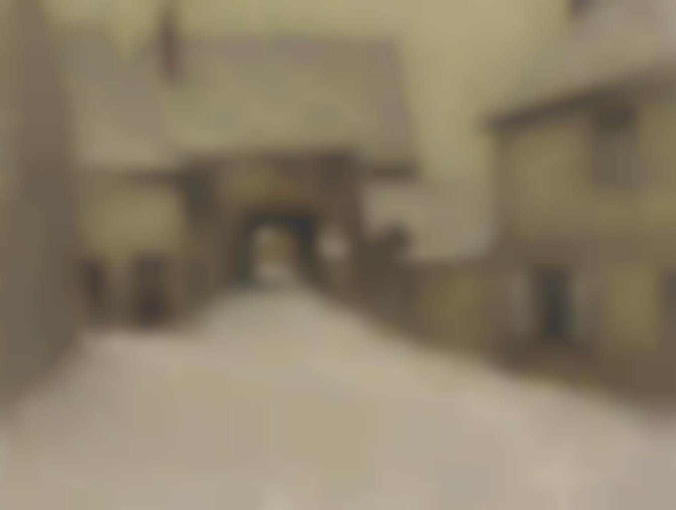 Henri Eugene Le Sidaner-Neige, le vieux village. Gerberoy-1902