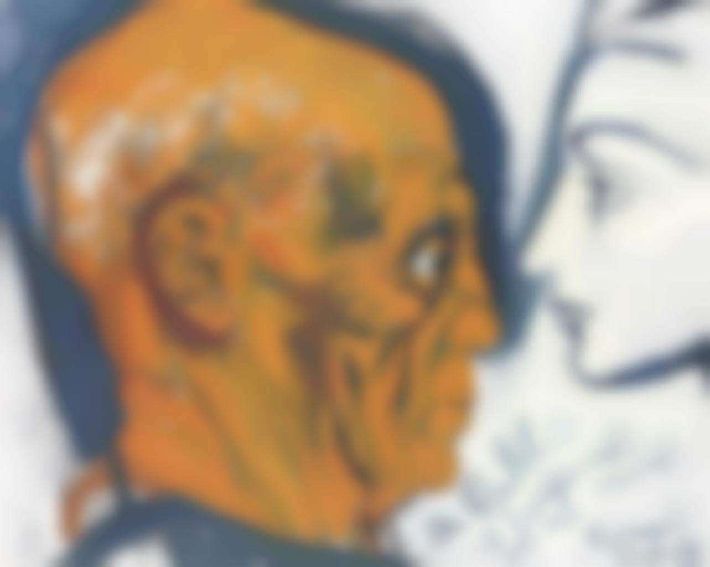 Renato Guttuso-Jacqueline e Picasso-1965