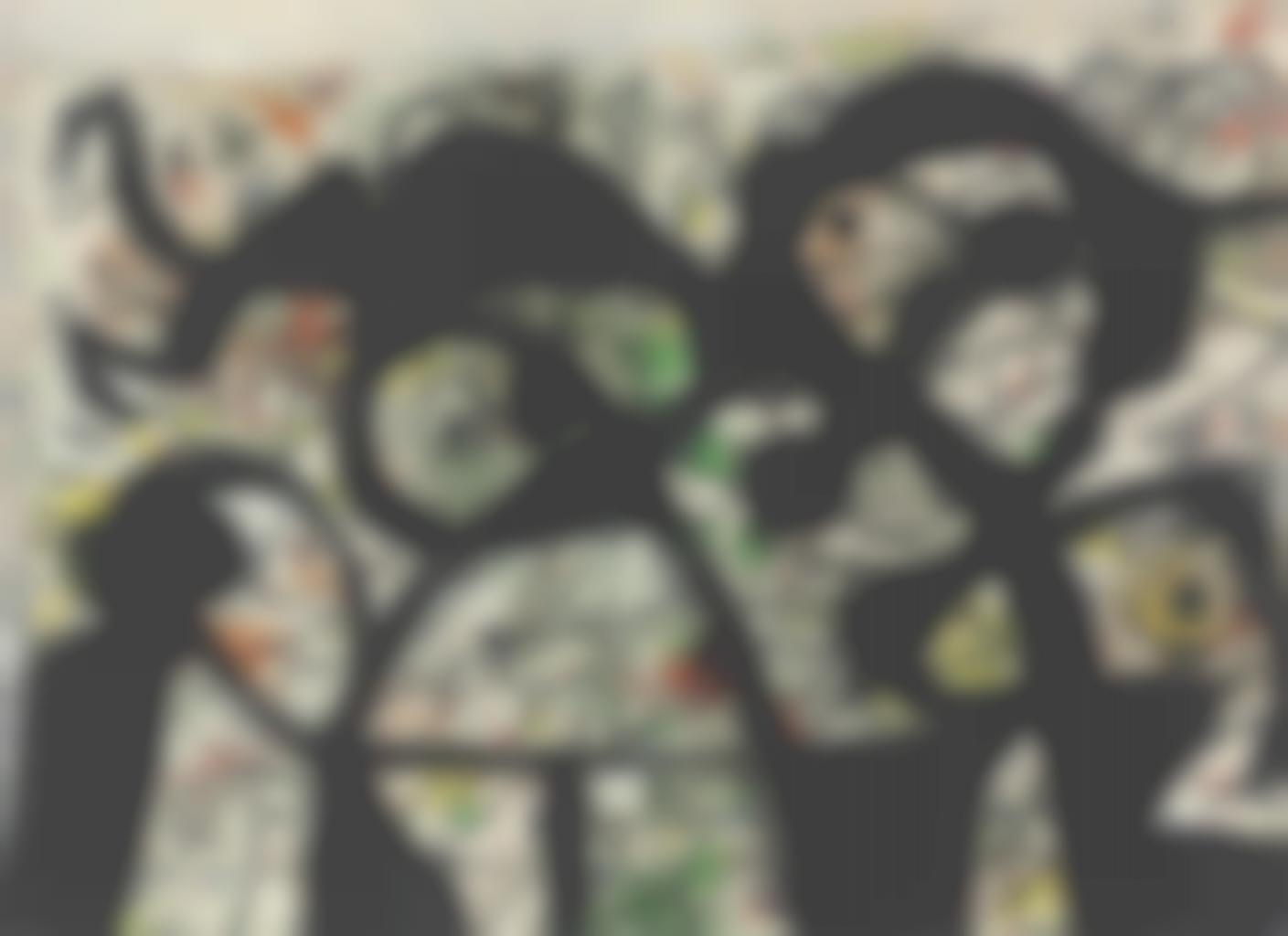 Joan Miro-Personnages, oiseaux-1981