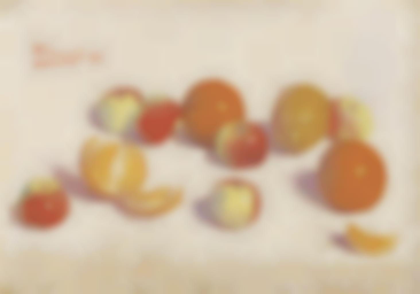 Achille Lauge-Nature morte aux pommes et aux oranges-1892