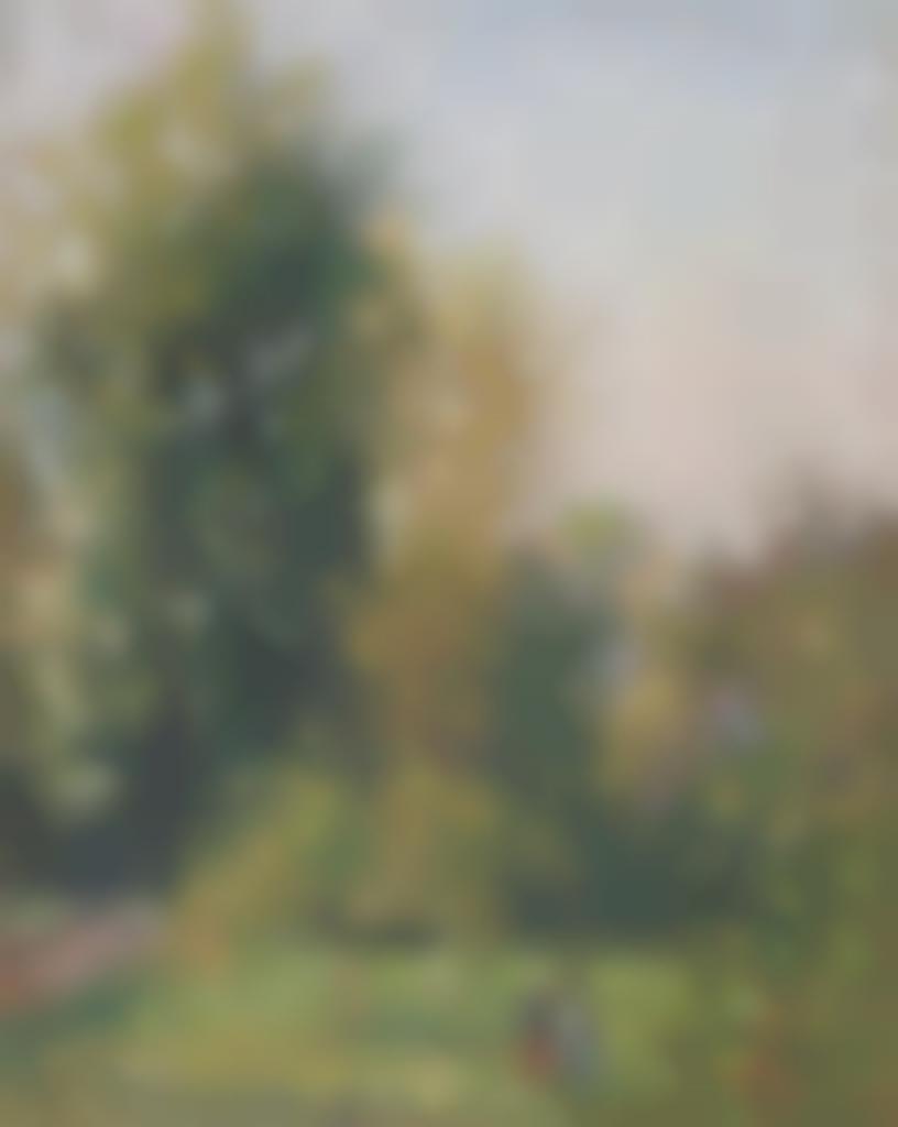 Camille Pissarro-Paysage avec deux personnages, Eragny, automne-1902