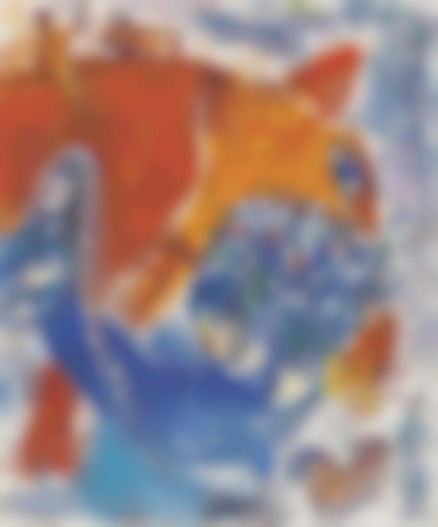 Marc Chagall-Tete de cheval-1964