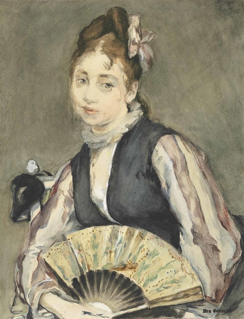 Eva Gonzales-Portrait de Jeanne Gonzales-1872