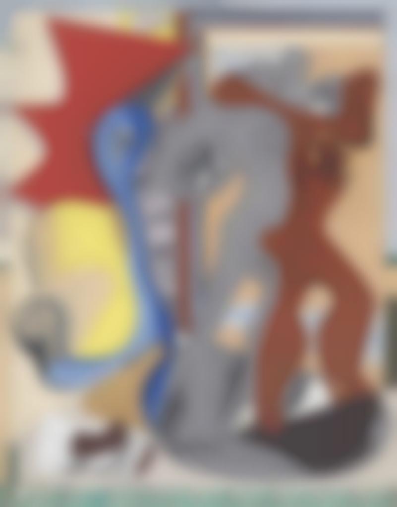Le Corbusier-Femme grise, homme rouge et os devant une porte-1931