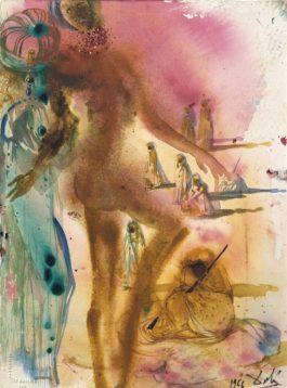 Salvador Dali-Arabes et Donyale Luna-1966