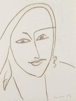 Henri Matisse-Portrait de femme-1952